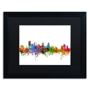 "Trademark Fine Art ''Baltimore Maryland Skyline'' by Michael Tompsett 16"" x 20"" Black Matted Black Frame (MT0565-B1620BMF)"