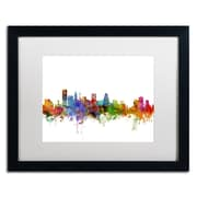 "Trademark Fine Art ''Baltimore Maryland Skyline'' by Michael Tompsett 16"" x 20"" White Matted Black Frame (MT0565-B1620MF)"