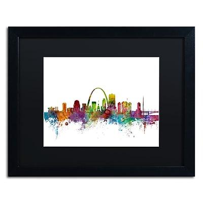 Trademark Fine Art ''St. Louis Missouri Skyline'' by Michael Tompsett 16