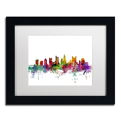 Trademark Fine Art ''Columbus Ohio Skyline'' by Michael Tompsett 11