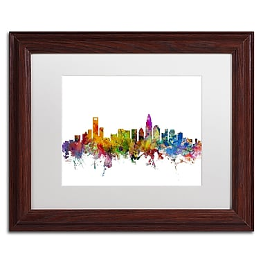 Trademark Fine Art ''Charlotte North Carolina Skyline'' by Michael Tompsett 11