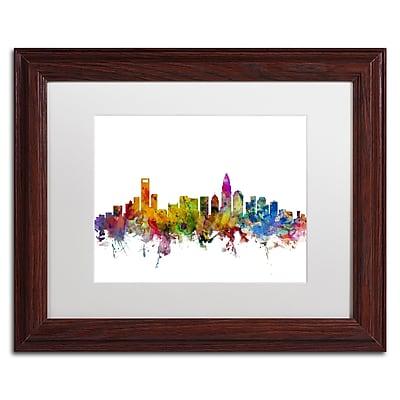 Trademark Fine Art ''Charlotte North Carolina Skyline'' by Michael Tompsett 11