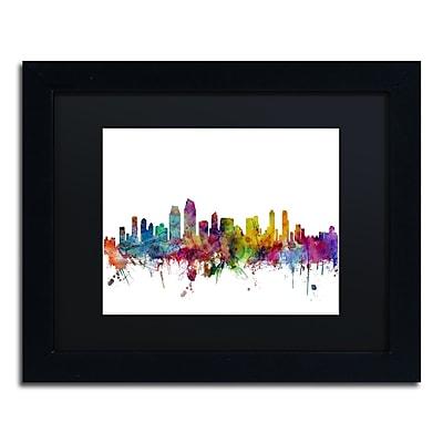 Trademark Fine Art ''San Diego California Skyline'' by Michael Tompsett 11