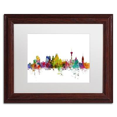 Trademark Fine Art ''San Antonio Texas Skyline'' by Michael Tompsett 11