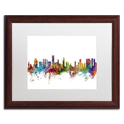 Trademark Fine Art ''Honolulu Hawaii Skyline'' by Michael Tompsett 16
