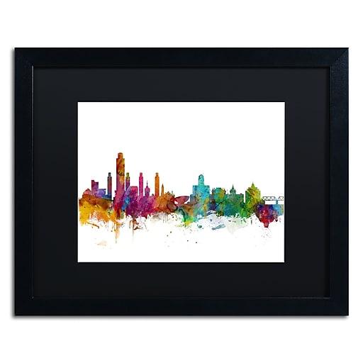 "Trademark Fine Art ''Albany New York Skyline'' by Michael Tompsett 16"" x 20""  Black Frame (MT0599-B1620BMF)"