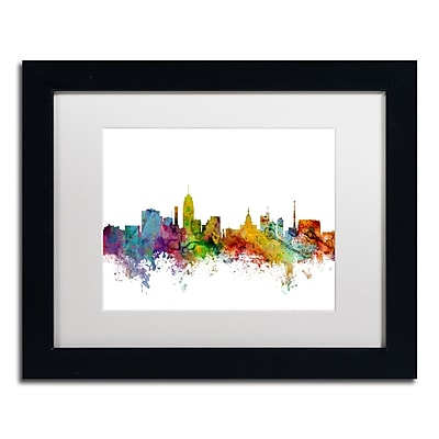Trademark Fine Art ''Lansing Michigan Skyline'' by Michael Tompsett 11