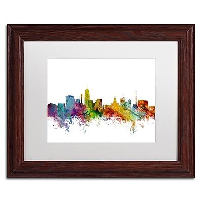 Trademark Fine Art ''Lansing Michigan Skyline'' by Michael Tompsett 11