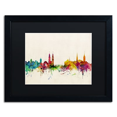 Trademark Fine Art ''Zurich Switzerland Skyline'' by Michael Tompsett 16