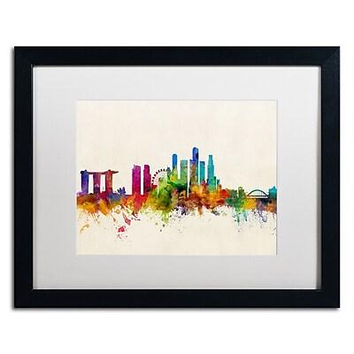Trademark Fine Art ''Singapore Skyline'' by Michael Tompsett 16