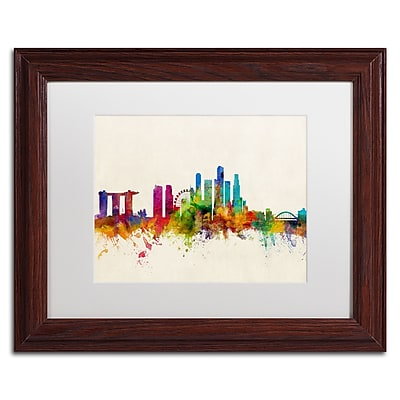 Trademark Fine Art ''Singapore Skyline'' by Michael Tompsett 11