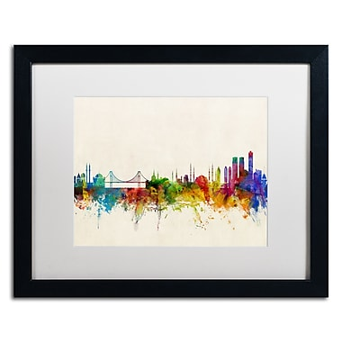 Trademark Fine Art ''Istanbul Turkey Skyline'' by Michael Tompsett 16