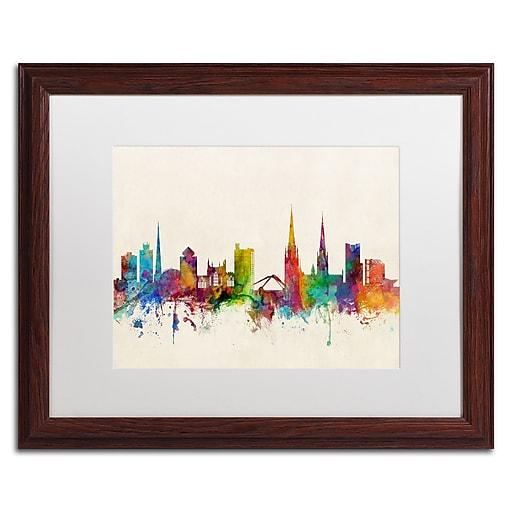 "Trademark Fine Art ''Coventry England Skyline'' by Michael Tompsett 16"" x 20"" Wood Frame (MT0609-W1620MF)"