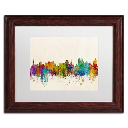 "Trademark Fine Art ''Victoria Canada Skylin'' by Michael Tompsett 11"" x 14"" White Matted Wood Frame (MT0612-W1114MF)"