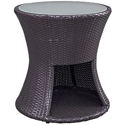 Modway Strum Outdoor Patio Side Table, Espresso (EEI-1002-EXP)