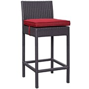 "Modway Lift 27.5""H Barstool, Espresso/Red (EEI-1006-EXP-RED)"