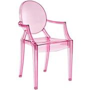 "Modway Casper 22""W Polycarbonate Armchair, Pink (EEI-121-PNK)"