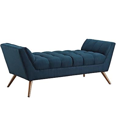 Modway Response Fabric Upholstered Bench, Azure (EEI-1789-AZU)