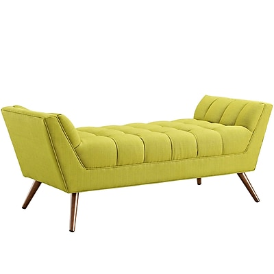 Modway Response Fabric Upholstered Bench, Wheatgrass (EEI-1789-WHE)