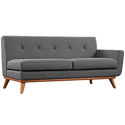 Modway Engage Fabric Loveseat, Gray (EEI-1792-DOR)