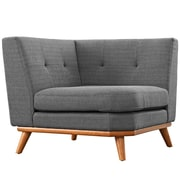 Modway Engage 39.5 Fabric Corner Sofa Gray EEI-1796-DOR