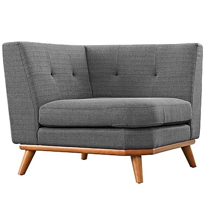 Modway Engage 39.5 Fabric Corner Sofa Gray EEI-1796-DOR