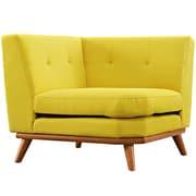 "Modway Engage 39.5"" Fabric Corner Sofa, Sunny (EEI-1796-SUN)"