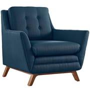 """Modway Beguile 36""""W Fabric Armchair, Blue (EEI-1798-AZU)"""