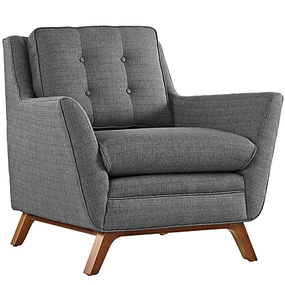 "Modway Beguile 36"" Fabric Armchair, Gray (EEI-1798-DOR)"