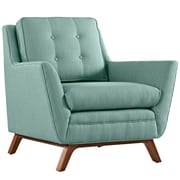 """Modway Beguile 36""""W Fabric Armchair, Blue (EEI-1798-LAG)"""