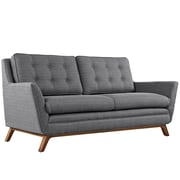 "Modway Beguile 71.5""W Fabric Loveseat, Gray (EEI-1799-DOR)"