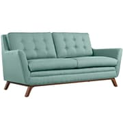 """Modway Beguile 71.5"""" Fabric Loveseat, Blue (EEI-1799-LAG)"""