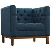 """Modway Panache 34"""" Fabric Armchair, Blue (EEI-1801-AZU)"""
