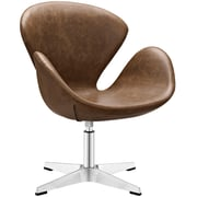 "Modway Flight 22.5""W Vinyl Lounge Chair, Brown (EEI-1803-BRN)"