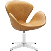 Modway Vinyl Lounge Chair, Tan (EEI-1803-TAN)