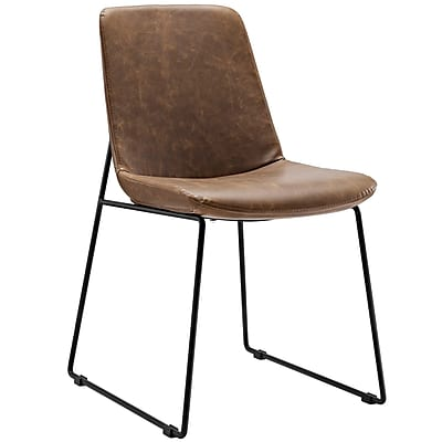 Modway Invite PU Leather Side Chair, Brown (EEI-1805-BRN)