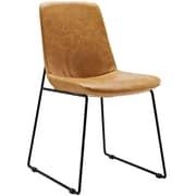 Modway Invite PU Leather Side Chair, Tan (EEI-1805-TAN)