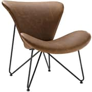 "Modway Glide 32"" Vinyl Lounge Chair, Brown (EEI-1807-BRN)"