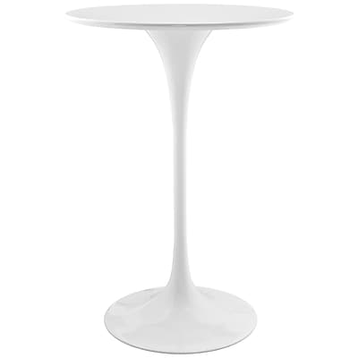 Modway 28''L Wood Dining Table, White (EEI-1825-WHI)