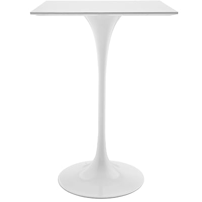 Modway 28'' Wood Top Dining Table, White (EEI-1826-WHI)