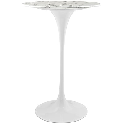 Modway 28''L Artificial Marble Dining Table, White (EEI-1827-WHI)