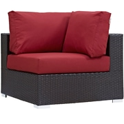 Modway Convene Outdoor Patio Corner Chair (EEI-1840-EXP-RED)
