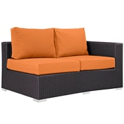Modway Convene Outdoor Patio Right Arm Loveseat, Espresso Orange (EEI-1841-EXP-ORA)