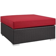 Modway Convene Outdoor Patio Square Ottoman (EEI-1845-EXP-RED)