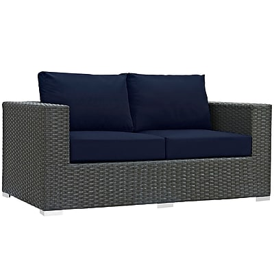 Modway Sojourn Outdoor Patio Loveseat (EEI-1851-CHC-NAV)