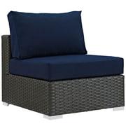 "Modway Sojourn 35""L Fabric Patio Armless Chair, Blue (EEI-1854-CHC-NAV)"