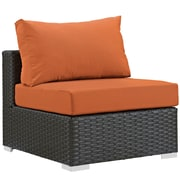 """Modway Sojourn 28.5""""W Armless Patio Chair with Fabric Cushions, Orange (EEI-1854-CHC-TUS)"""