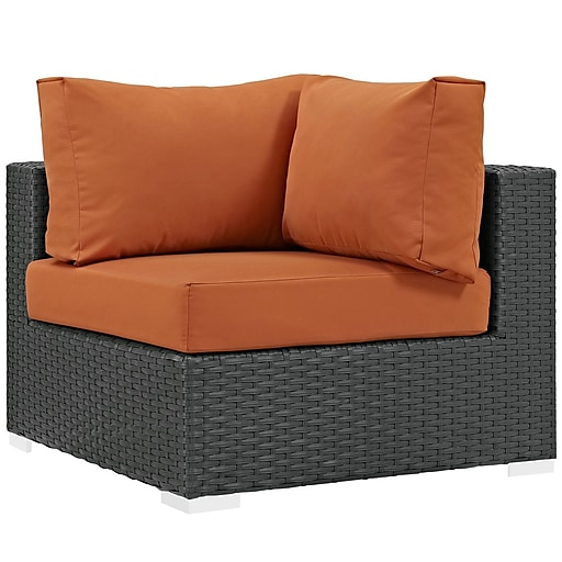 Modway Sojourn Outdoor Patio Outdoor Patio Patio Corner Chair Section (EEI-1856-CHC-TUS)