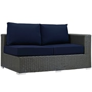 Modway Sojourn Outdoor Patio Right Arm Loveseat, Sunbrella Canvas Navy (EEI-1857-CHC-NAV)