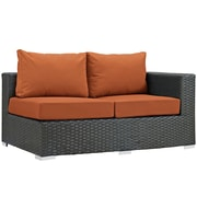 Modway Sojourn Outdoor Patio Right Arm Loveseat, Sunbrella Canvas Tuscan (EEI-1857-CHC-TUS)